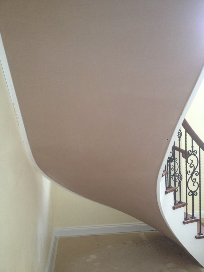 curved staircase over eml